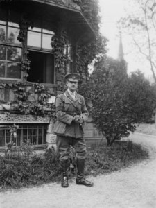 John Monash at his headquarters in the Villers- Bretonneux sector. (Pic: Australian War Memorial)